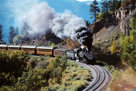 NARROW GAUGE STEAM RAILROAD TRAIN DURANGO SILVERTON, CO Stock Photo - Rights-Managed, Code: 846-05647330