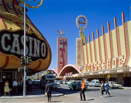 1950s FREMONT STREET, LAS VEGAS, NV CASINO GAMBLING Stock Photo - Rights-Managed, Code: 846-05647375
