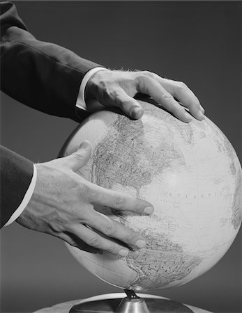 1960s MALE  HANDS HOLDING EARTH GLOBE Stock Photo - Rights-Managed, Code: 846-05648165