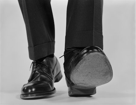 1960s CLOSE-UP MALE FEET SHOES WALKING Stock Photo - Rights-Managed, Code: 846-05648241
