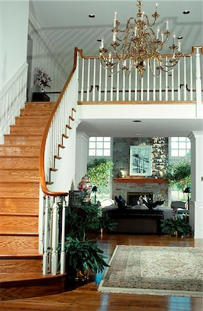 1980s FOYER AND STAIRCASE Stock Photo - Rights-Managed, Code: 846-06111736