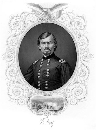 franxyz - 1800s 1860s PORTRAIT GERMAN BORN GENERAL FRANZ SIGEL BATTLE OF CARTHAGE MISSOURI 1861 Stock Photo - Rights-Managed, Code: 846-06112291