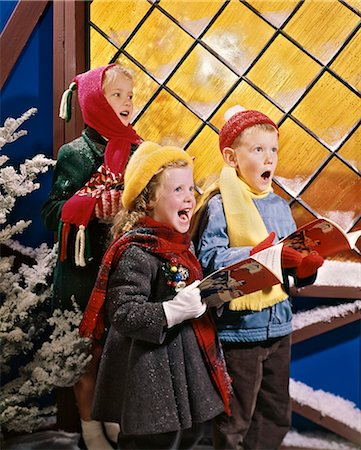 1980s KIDS SINGING CHRISTMAS CAROLS Stock Photo - Rights-Managed, Code: 846-08226135