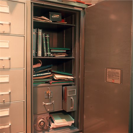 1960s INTERIOR OF OFFICE SAFE Stock Photo - Rights-Managed, Code: 846-02794941