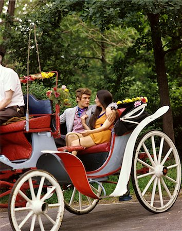 1960s MAN WOMAN HANSOM CAB CARRIAGE Stock Photo - Rights-Managed, Code: 846-02795197