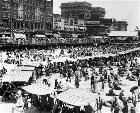 sandi model - 1920s ATLANTIC CITY NEW JERSEY USA BEACH & BOARDWALK Stock Photo - Rights-Managed, Code: 846-02795857