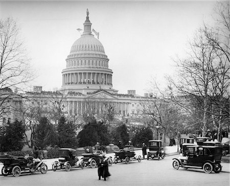 1910s 1920s CAPITOL BUILDING WASHINGTON DC USA LINE OF CARS PARKED ON STREET IN FOREGROUND Stock Photo - Rights-Managed, Code: 846-02795973