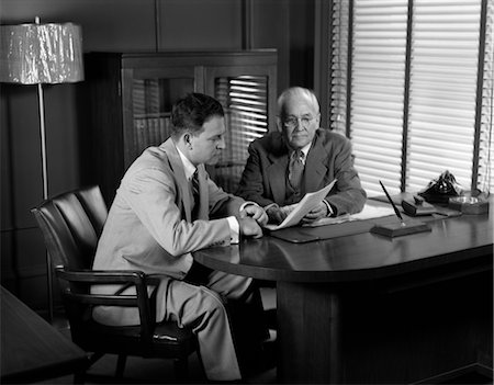 1950s MEN MEETING BUSINESS SUITS Stock Photo - Rights-Managed, Code: 846-02796049
