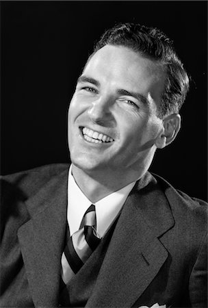 1940s 1950s SMILING LAUGHING MAN Stock Photo - Rights-Managed, Code: 846-02796141