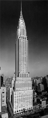 1930 1930s TALL NARROW VERTICAL VIEW OF CHRYSLER BUILDING LEXINGTON AVENUE 42ND STREET NEW YORK CITY MANHATTAN ART DECO STYLE ARCHITECTURE Stock Photo - Rights-Managed, Code: 846-02796309