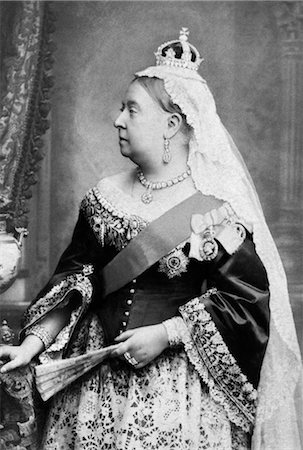 PORTRAIT PROFILE QUEEN VICTORIA RULED FROM 1837 - 1901 ENGLAND BRITISH EMPIRE VICTORIAN ERA Stock Photo - Rights-Managed, Code: 846-02796401