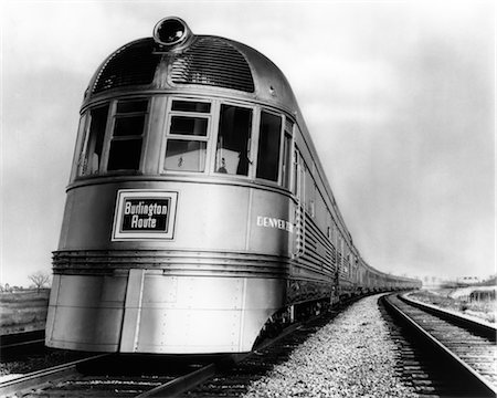 1940s RAILROAD DENVER ZEPHYR ENGINE STREAMLINER Stock Photo - Rights-Managed, Code: 846-02796566