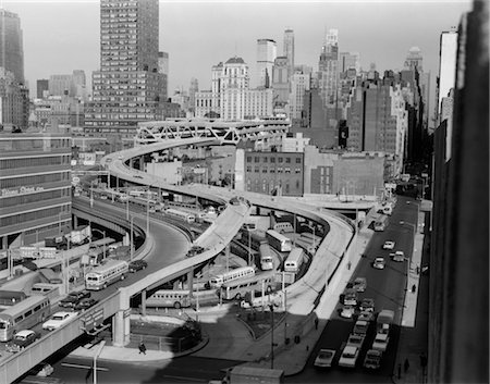 1960s OVERHEAD OF PORT AUTHORITY RAMPS IN NEW YORK CITY Stock Photo - Rights-Managed, Code: 846-02796600