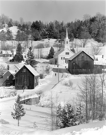 1970s WINTER SCENIC OF WAITS RIVER JUNCTION VERMONT Stock Photo - Rights-Managed, Code: 846-02797827