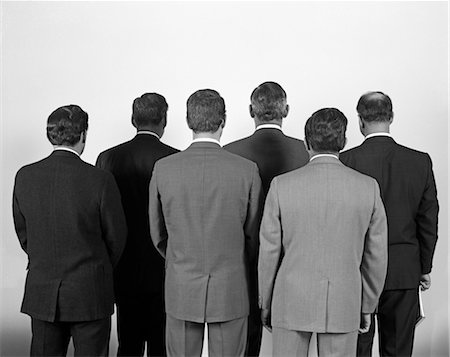 1960s BACK-VIEW OF SIX BUSINESS MEN Stock Photo - Rights-Managed, Code: 846-02792188