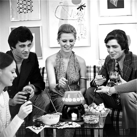 1970s FONDUE PARTY WITH SEVERAL COUPLES Stock Photo - Rights-Managed, Code: 846-02792440