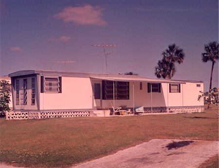 1960s MOBILE HOME TRAILER PARK Stock Photo - Rights-Managed, Code: 846-02792594