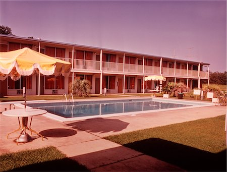 1960s MOTEL SWIMMING POOL Stock Photo - Rights-Managed, Code: 846-02792689