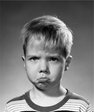 1950s PORTRAIT BLOND BOY SAD GRUMPY ANGRY POUTING FACIAL EXPRESSION Stock Photo - Rights-Managed, Code: 846-02793726