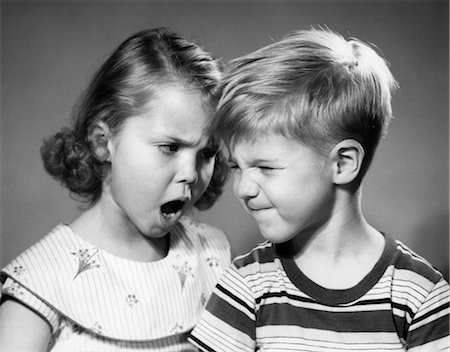 1950s BOY AND GIRL ARGUING HEAD TO HEAD Stock Photo - Rights-Managed, Code: 846-02793731