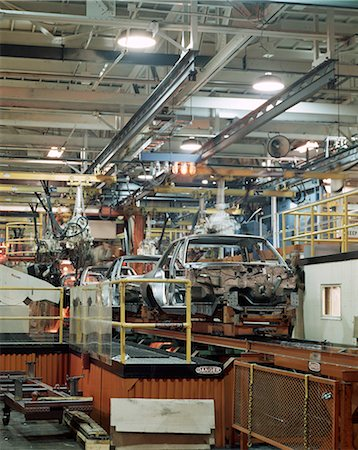 1970s AUTOMOBILE ASSEMBLY LINE IN FACTORY MAKING CHRYSLER CARS Stock Photo - Rights-Managed, Code: 846-03164735