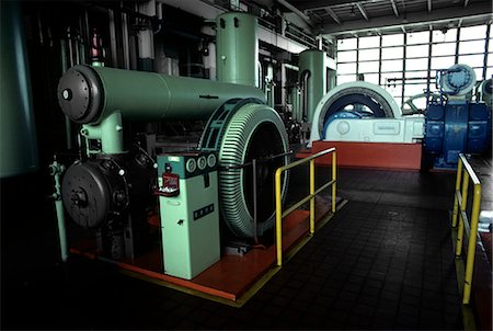 1970s GENERATORS AND LARGE MACHINERY IN AUTOMOBILE PLANT Stock Photo - Rights-Managed, Code: 846-03164737