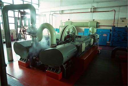 1970s INTERIOR FACTORY MACHINERY GENERATOR IN AUTOMOBILE PLANT Stock Photo - Rights-Managed, Code: 846-03164738