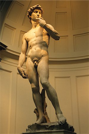 statue of david - FLORENCE, ITALY MICHELANGELO'S DAVID Stock Photo - Rights-Managed, Code: 846-03165311