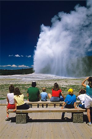 YELLOWSTONE NP WY OLD FAITHFUL GEYSER Stock Photo - Rights-Managed, Code: 846-03165356
