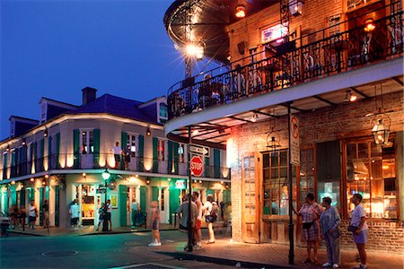 south - NEW ORLEANS, LA FRENCH QUARTER BOURBON STREET AT NIGHT Stock Photo - Rights-Managed, Code: 846-03165443