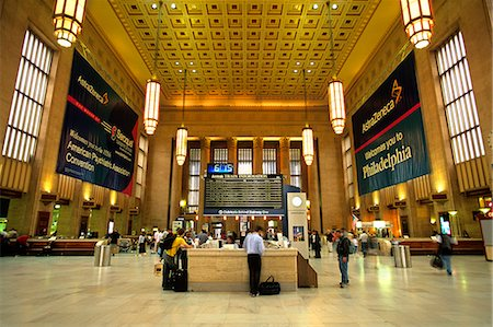 PHILADELPHIA, PA TRAIN SCHEDULE DISPLAY BOARD IN 30TH STREET STATION Stock Photo - Rights-Managed, Code: 846-03165506