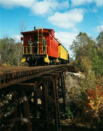 RED CABOOSE OF MORAINE RAILWAY, NORTH LAKE, WISCONSIN Stock Photo - Rights-Managed, Code: 846-03165634
