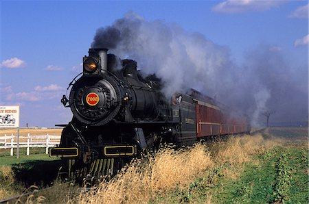 STRASBURG STEAM RAILROAD LANCASTER COUNTY, PENNSYLVANIA Stock Photo - Rights-Managed, Code: 846-03165691