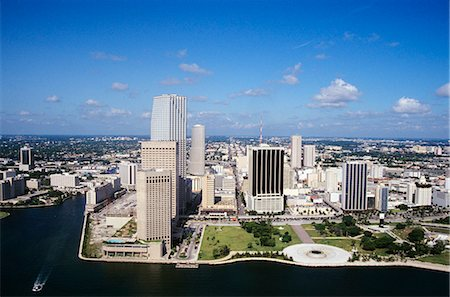 AERIAL OF MIAMI FLORIDA Stock Photo - Rights-Managed, Code: 846-03165770