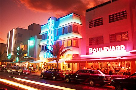 south - ART DECO MIAMI BEACH FLORIDA Stock Photo - Rights-Managed, Code: 846-03165771