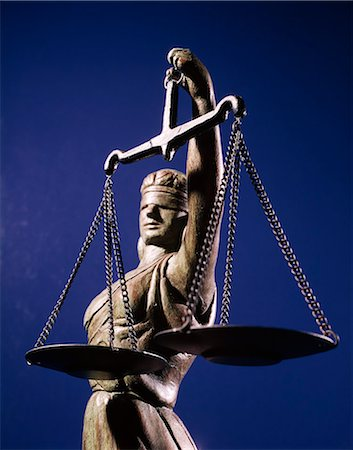 SCALES JUSTICE STATUE BLIND Stock Photo - Rights-Managed, Code: 846-03166091