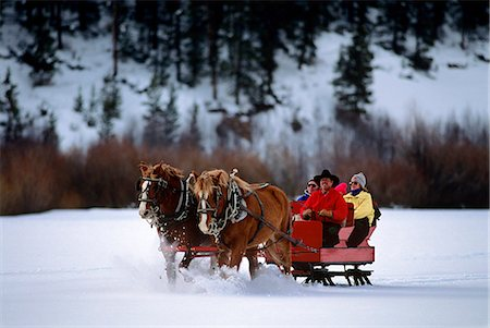 1990s PEOPLE RIDING HORSE DRAWN SLEIGH GRANBY COLORADO USA Stock Photo - Rights-Managed, Code: 846-03166153