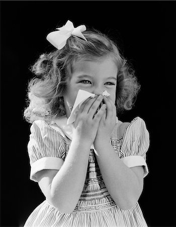 people coughing or sneezing - 1940s GIRL TODDLER SNEEZING TISSUE TO NOSE Stock Photo - Rights-Managed, Code: 846-03163178