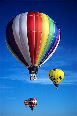 HOT AIR BALLOONS IN SKY Stock Photo - Rights-Managed, Code: 846-03163648