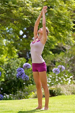 Beautiful mature woman performing yoga outside Stock Photo - Rights-Managed, Code: 847-05606930