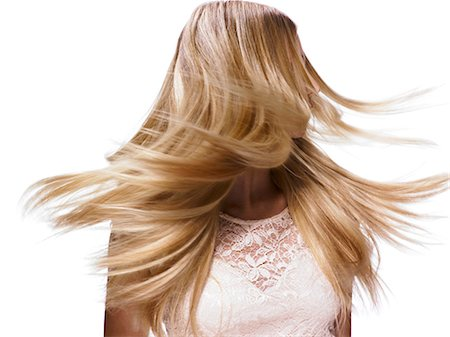 Beautiful blonde girl shaking her hair Stock Photo - Rights-Managed, Code: 847-06052573