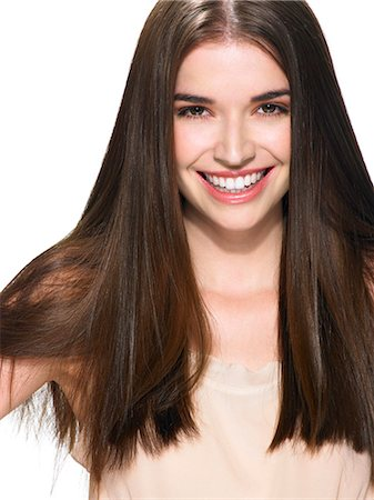 silky - Portrait of a beautiful brunette Stock Photo - Rights-Managed, Code: 847-06052617