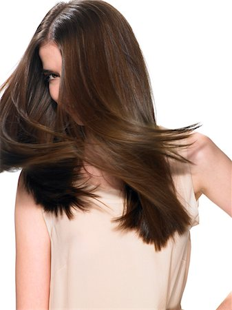 Beautiful brunette shaking her hair Stock Photo - Rights-Managed, Code: 847-06052625