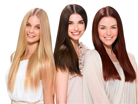 Three friends with beautiful hair Stock Photo - Rights-Managed, Code: 847-06052634