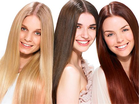 Three friends with beautiful hair Stock Photo - Rights-Managed, Code: 847-06052644
