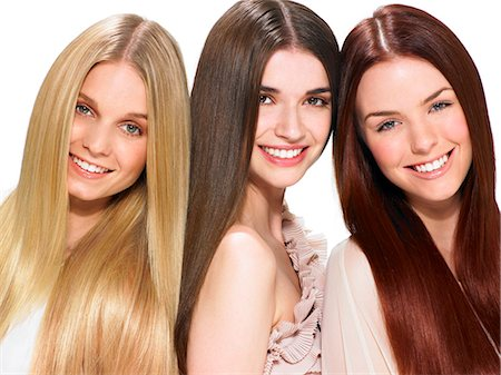 Three friends with beautiful hair Stock Photo - Rights-Managed, Code: 847-06052646