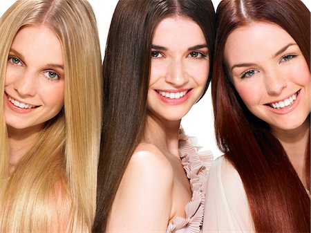 Three friends with beautiful hair Stock Photo - Rights-Managed, Code: 847-06052647