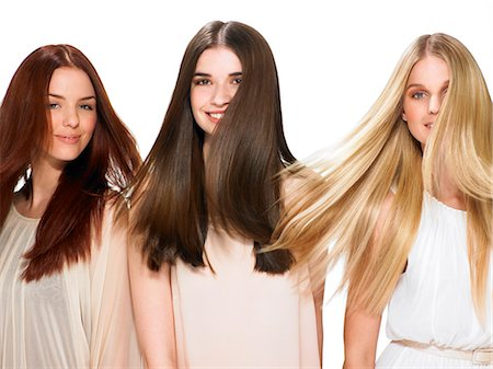 Three friends with beautiful hair Stock Photo - Rights-Managed, Code: 847-06052649