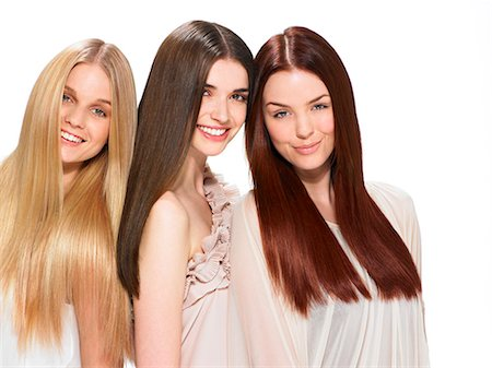 Three friends with beautiful hair Stock Photo - Rights-Managed, Code: 847-06052640