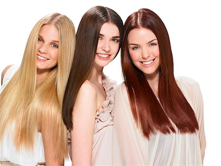 Three friends with beautiful hair Stock Photo - Rights-Managed, Code: 847-06052641